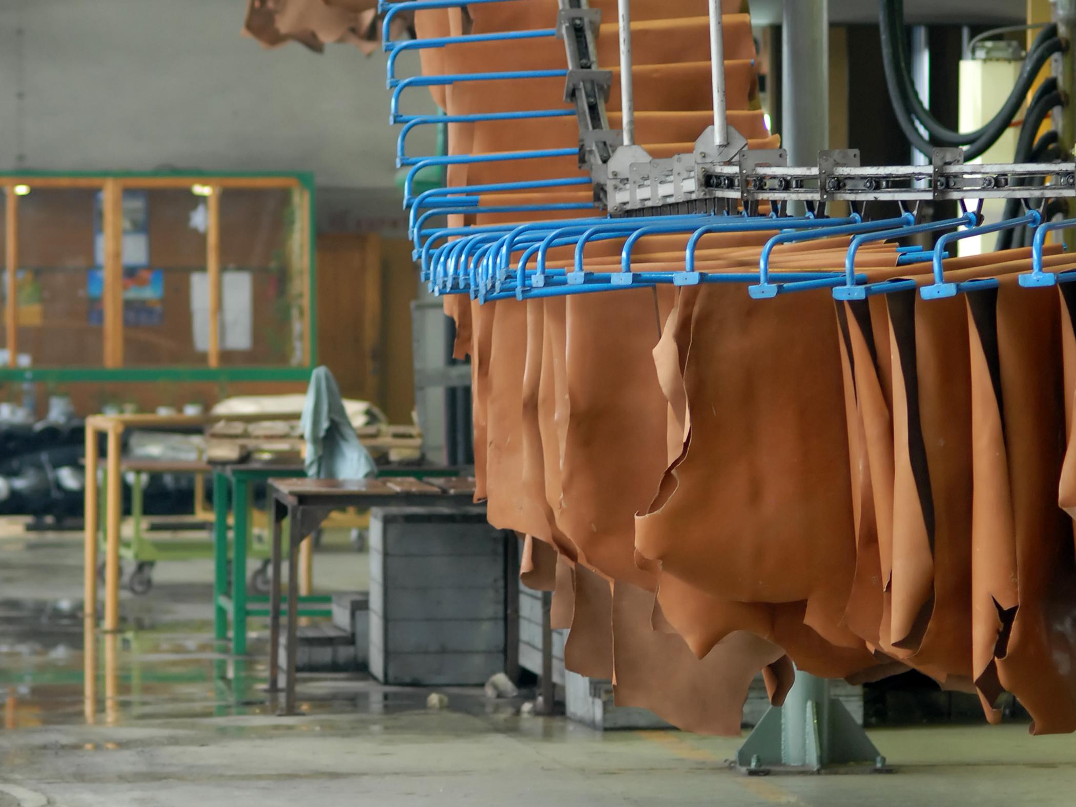 Automotive leather production.