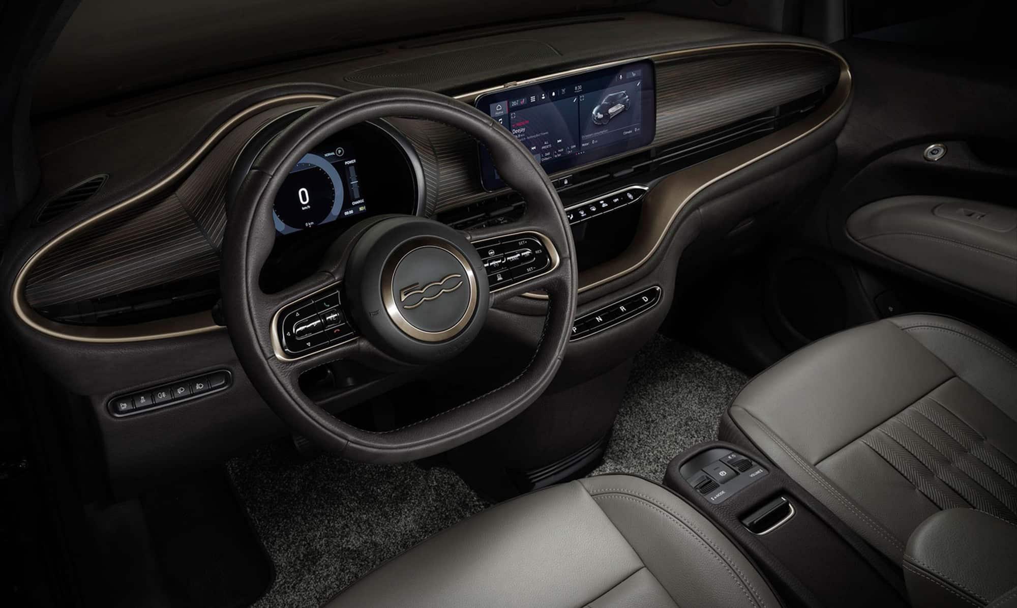 Giorgio Armani's Fiat 500 makeover uses leather for interior