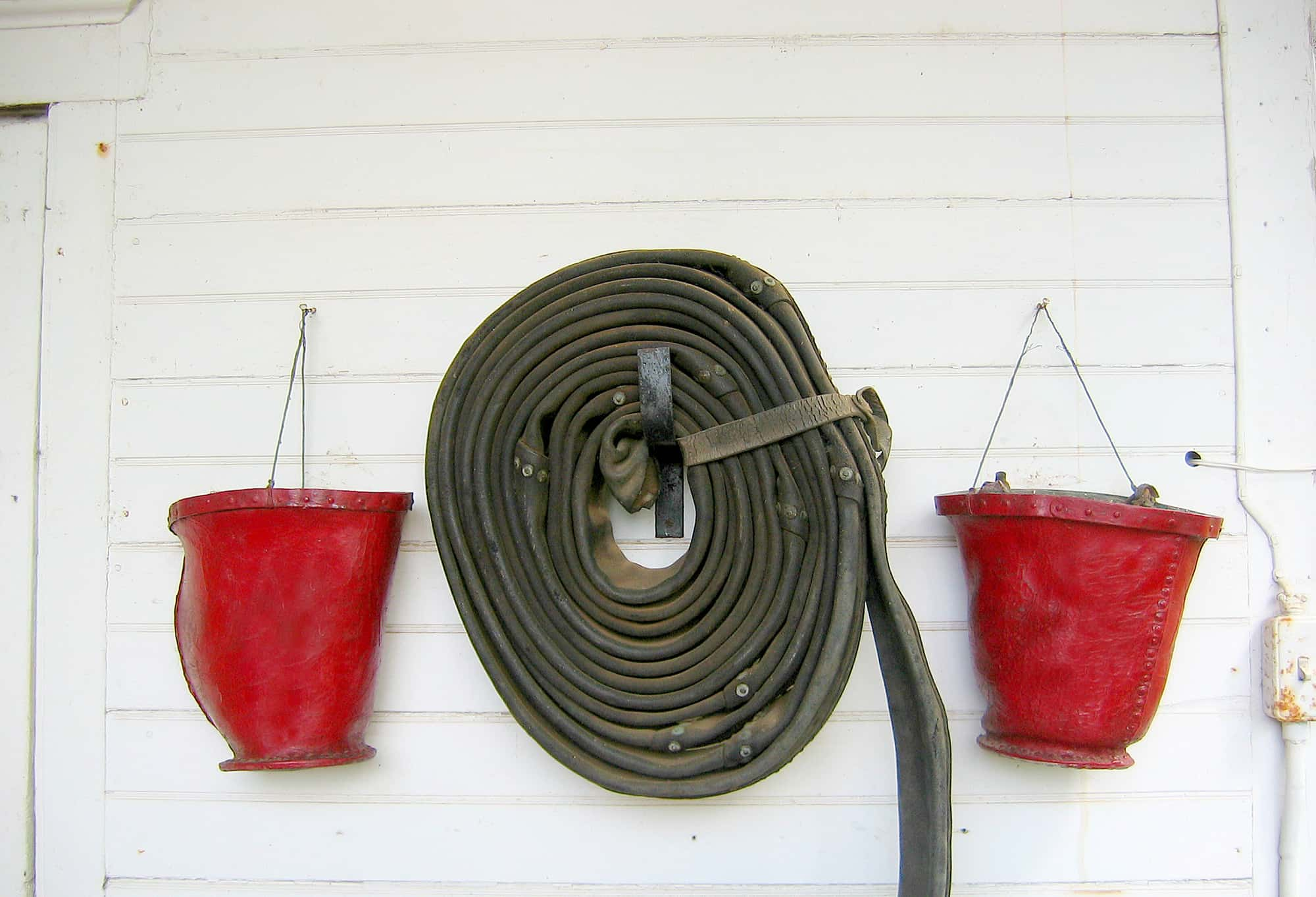 Leather was a solution for hoses and plumbing